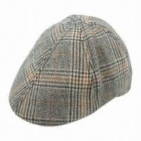 Buy cheap 100% Cotton Checked Ivy Cap with Pre-curved Peak from wholesalers