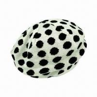 Buy cheap Ladie's Knitted Beret Cap, Made of 100% Acrylic from wholesalers