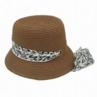 Buy cheap Straw Hat, Suitable for Summer Wear, Fashionable Design, Measures 58cm from wholesalers