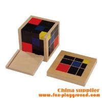 Buy cheap Kindergarten teaching aids Montessori Puzzle - Trinomial Cube from wholesalers