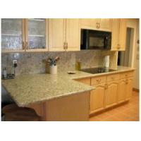 Buy cheap giallo ornamental Granite Countertop Tile Tread Panel from wholesalers