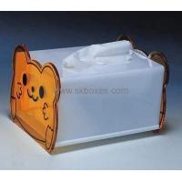 Buy cheap Custom design acrylic display box clear plastic tissue box large storage box BTB-144 product