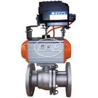Buy cheap QYH641 pneumatic Otype regulative cutting off ball valve Sizes: Flow from wholesalers