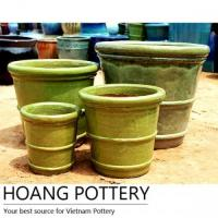 Buy cheap Ceramic Glazed Pots with Two Rings (HPTR017) from wholesalers