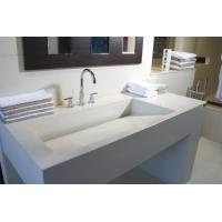 Buy cheap bathroom cabinets and countertops Pure white solid surface countertop BBCT-003 from wholesalers