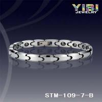 Buy cheap Products: Polished Shiny&Hematite Inlay Tungsten Bracelet Clasp Ajustable STM-109-7-B from wholesalers
