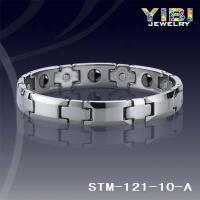 Buy cheap Products: Tungsten Magnetic Hematite Bracelet High Polished Faceted Band STM-121-10-A from wholesalers