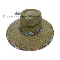 Buy cheap stylish western style good quality cowboy straw hat for men from wholesalers