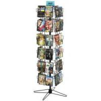 Buy cheap Rotating Floor Standing CD Display Stand w/ Sign Clip, 48 Pockets - Black from wholesalers