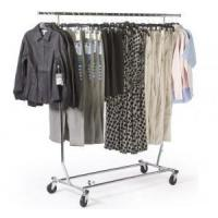 Buy cheap Collapsible Rolling Clothing Rack with Extendable Crossbar from wholesalers