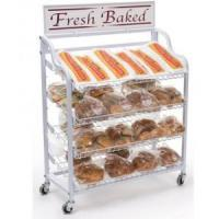 Buy cheap 39w Bread Display stand w/ Wheels, 4 Shelves & Header - White from wholesalers