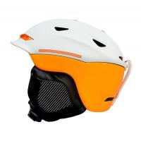 s-628 Orange and white Ski Helmet