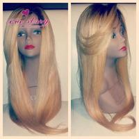 Buy cheap Silky straight honey blonde lace front human hair wigs from wholesalers
