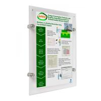 Buy cheap 8.5 x 11 Poster Size Wall Mount Clear Acrylic Sign Frame with Standoff Hardware and Magnets from wholesalers