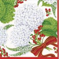 Buy cheap Snowball Hydrangeas white Paper Cocktail Napkins - 20 per package from wholesalers