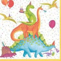Buy cheap Partysaurus Paper Cocktail Napkins - 20 per package from wholesalers