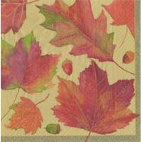 Buy cheap Watercolor Leaves gold Paper Luncheon Napkins - 20 per package from wholesalers