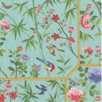Buy cheap Chinese Wallpaper blue Paper Luncheon Napkins - 20 per package from wholesalers