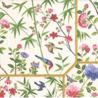 Buy cheap Chinese Wallpaper cream Paper Cocktail Napkins - 20 per package from wholesalers