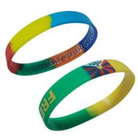 Buy cheap Silicone Wristband vertical segmented wristband from wholesalers