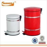 Buy cheap Office Home Hotel Iron Red Pedal Garbage Can MHI-013 from wholesalers