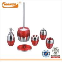 Buy cheap Fashion Red Plastic and stainless steel Bathroom Set MBS-032 from wholesalers