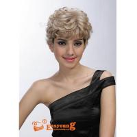 Buy cheap Hand tied mono lace wigs, synthetic lace wigs E0711 from wholesalers