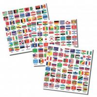 Buy cheap Flags of the World self-adhesive Labels - 3 sheets with 192 countries from wholesalers