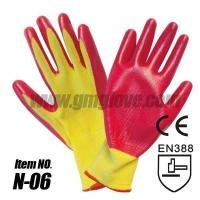 Buy cheap Pink Light Nitrile Garden Gloves, Nylon Seamless Knit from wholesalers