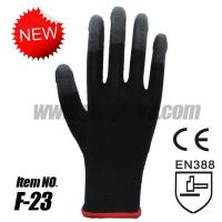 Buy cheap 13 Gauge Nylon PU Finger Gloves, Black ESD & Exam glove from wholesalers