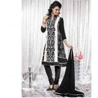 China Salwar Kameez Black Georgette Embroidery Kameez on sale