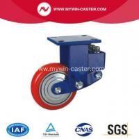 Buy cheap Plate Iron PU Shock Absorbing Caster from wholesalers