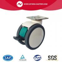 Buy cheap Plate Swivel Steel Structure TPU Medical Caster from wholesalers