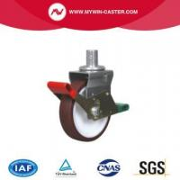 Buy cheap Round Stem Swivel Brown PU Scaffolding Caster from wholesalers