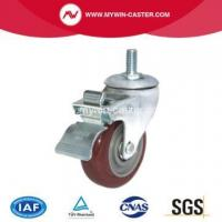 Buy cheap Brake Thread Stem Industrial Caster Rubber Wheel from wholesalers
