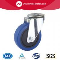 Buy cheap Bolt Hole Europe Type Industrial Caster Rubber Wheel from wholesalers