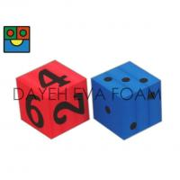 Buy cheap Jumbo EVA Foam Dice set- 12 cm , Dots / Numbers, Red/ Blue D7012A from wholesalers