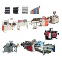 Buy cheap Conical Twin Screw Plastic Extruder PE,PP,PVC Single Wall Corrugated Pipe Extrusion Line from wholesalers