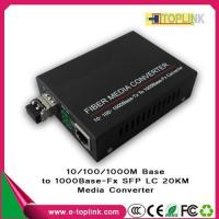 Buy cheap Fiber Patchcord & Pigtail 1000M Base SFP LC 20KM media converter from wholesalers