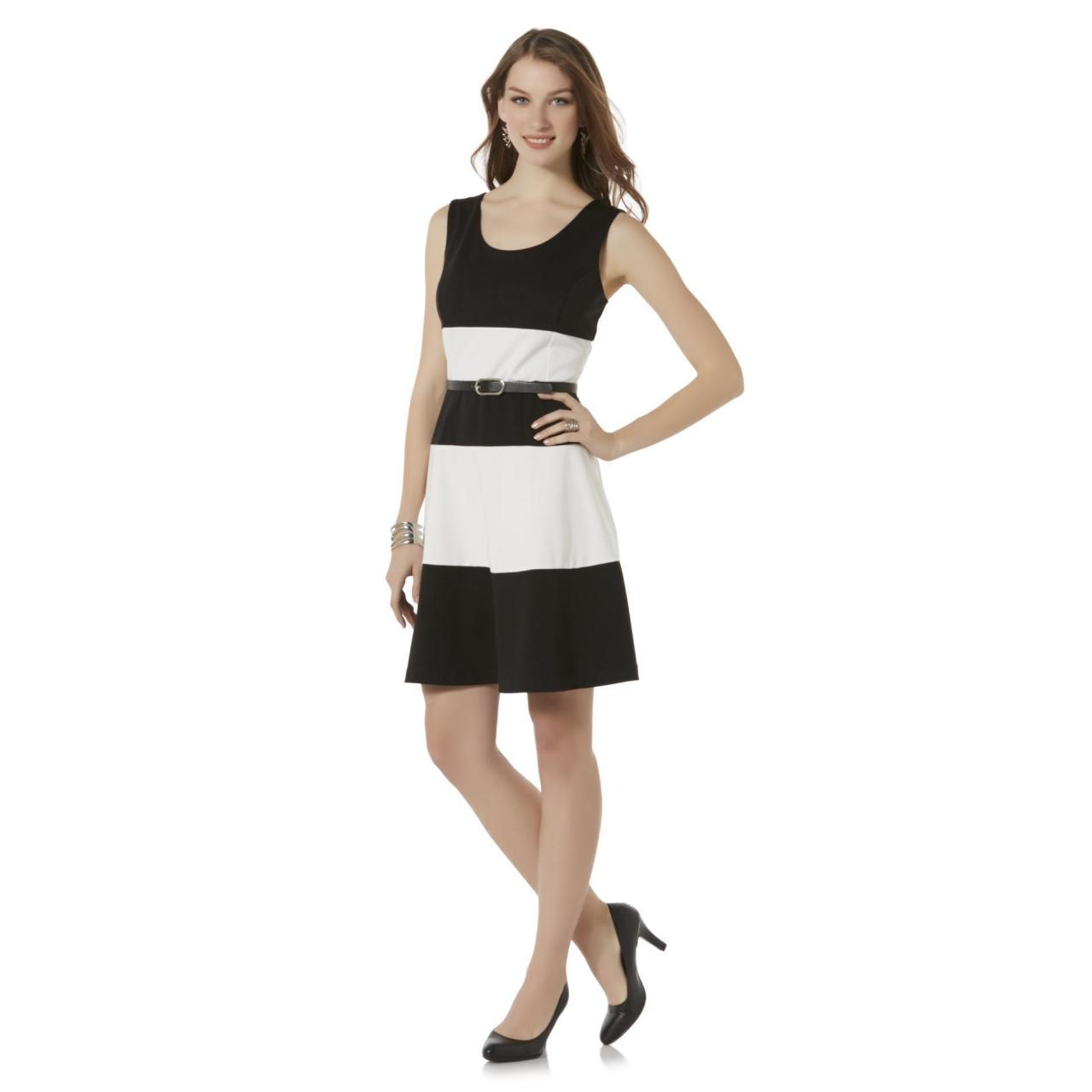 Buy cheap Covington Women's Sleeveless Belted Dress - Striped from wholesalers