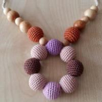 Buy cheap Nursing necklace teething wood beads necklace baby teething dummy clips from wholesalers