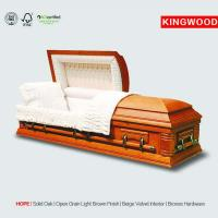 Buy cheap HOPE glass casket with casket accessories from wholesalers
