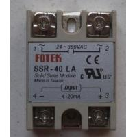 Buy cheap SSR-40DA 40A DC to AC fotek solid state relay from wholesalers