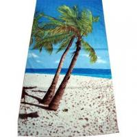 Buy cheap Beach Towels - CT003100% Cotton Full Reactive Printed Velour Beach Towels from wholesalers