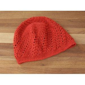 Quality Children Crochet Hat Lace Tam Red Women Mesh Hat for sale