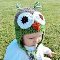 Buy cheap Owl Baby Hat, Crocheted Owl Baby Hat, Crocheted Owl Beanie from wholesalers
