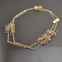 Buy cheap Fancy gold rhinestone choker necklace from wholesalers