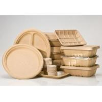 Buy cheap Disposable Molded Pulp Meal Boxes Plates Refrigerator Microwave Oven Safe from wholesalers
