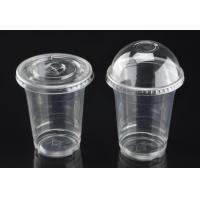 Buy cheap Customize 12oz PET Cold Drink Coffee Summer Freeze Beverage Cups Printing LOGO With Dome Lid from wholesalers