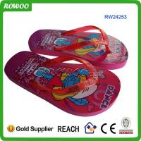 Buy cheap Red girl rubber flip flop from wholesalers